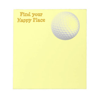 Find your happy place notepad