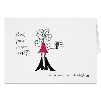 Find your inner imp Crazyhair card