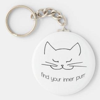Find Your Inner Purr Keychain