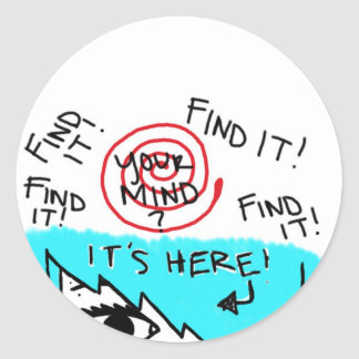 find your mind sticker