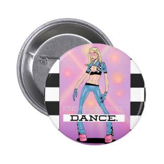 Find your power 6 cm round badge