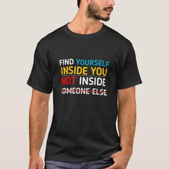 Find yourself Black Tshirt