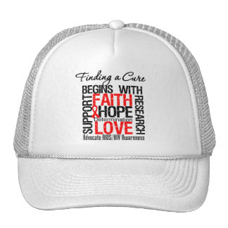 Finding a Cure For AIDS HIV Trucker Hat