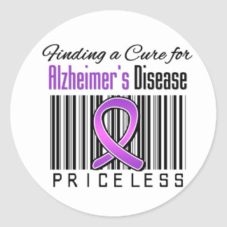Finding a Cure For Alzheimers Disease PRICELESS Round Sticker