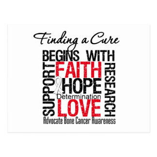Finding a Cure For Bone Cancer Postcard
