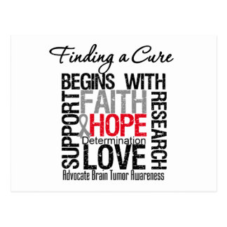Finding a Cure For Brain Tumors Post Card