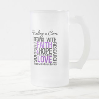 Finding a Cure For Crohns Disease Frosted Glass Mug
