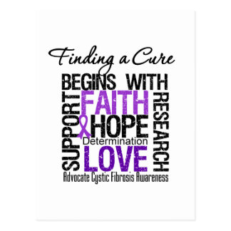 Finding a Cure For Cystic Fibrosis Postcard