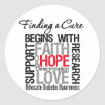Finding a Cure For Diabetes Round Stickers