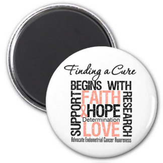 Finding a Cure For Endometrial Cancer Fridge Magnet