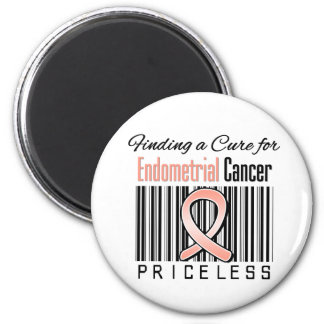 Finding a Cure For Endometrial Cancer PRICELESS Fridge Magnet