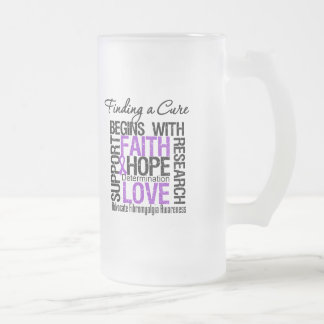Finding a Cure For Fibromyalgia Frosted Glass Mug