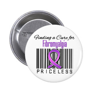 Finding a Cure For Fibromyalgia PRICELESS 6 Cm Round Badge