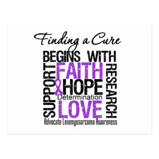 Finding a Cure For Leiomyosarcoma Postcard
