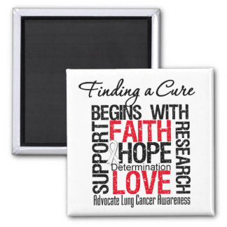 Finding a Cure For Lung Cancer Fridge Magnet