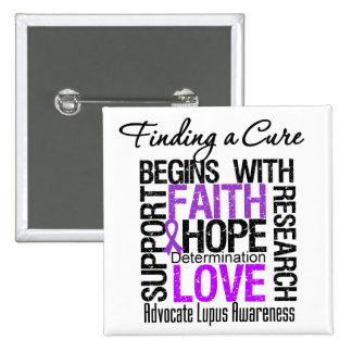 Finding a Cure For Lupus 15 Cm Square Badge