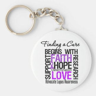 Finding a Cure For Lupus Basic Round Button Key Ring