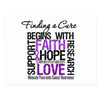 Finding a Cure For Pancreatic Cancer Postcard