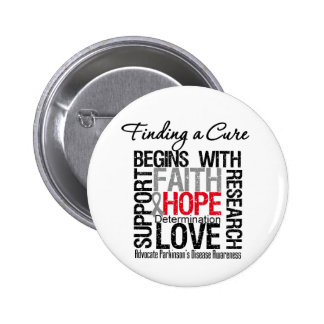 Finding a Cure For Parkinsons Disease 6 Cm Round Badge