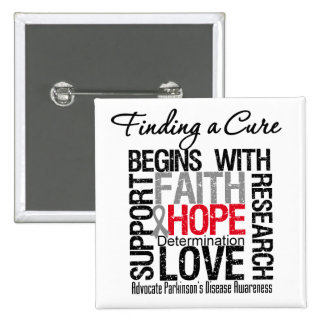 Finding a Cure For Parkinsons Disease Pinback Button
