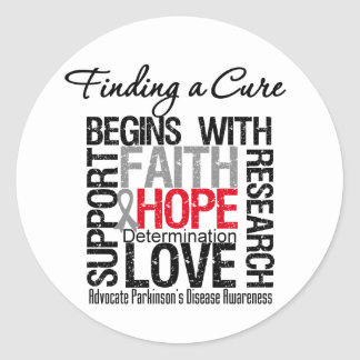 Finding a Cure For Parkinsons Disease Round Stickers