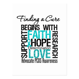 Finding a Cure For Polycystic Ovary Syndrome PCOS Postcard