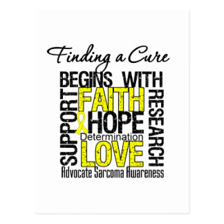 Finding a Cure For Sarcoma Postcard