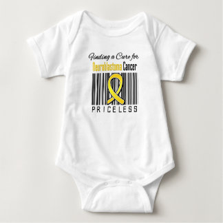 Finding a Cure Priceless - Neuroblastoma Cancer Baby Bodysuit