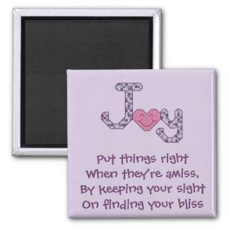 Finding Bliss Poem Magnet
