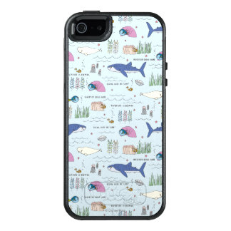 Finding Dory Blue Cartoon Pattern OtterBox iPhone 5/5s/SE Case
