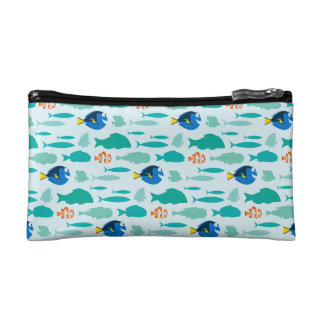 Finding Dory Silhouette Pattern Cosmetic Bags