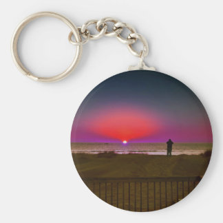 Finding Harmony in Balance Beach Sunrise Meditatio Key Ring