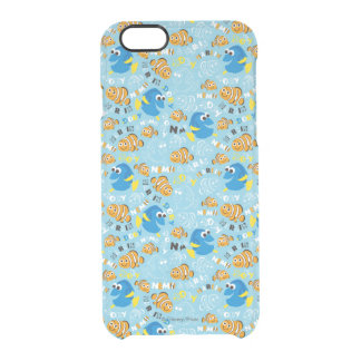 Finding Nemo   Dory and Nemo Pattern Clear iPhone 6/6S Case