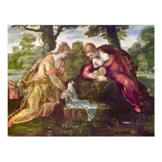 Finding of Moses by Tintoretto Postcard