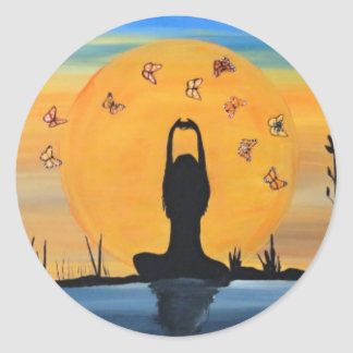 Finding your Zen Round Stickers