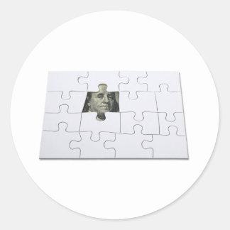 FindingMoney083010 Round Sticker