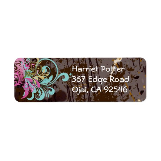 Fine Abstract Cool Cute Girly Retro Fashion Return Address Label