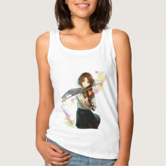 Fine animates music tank top