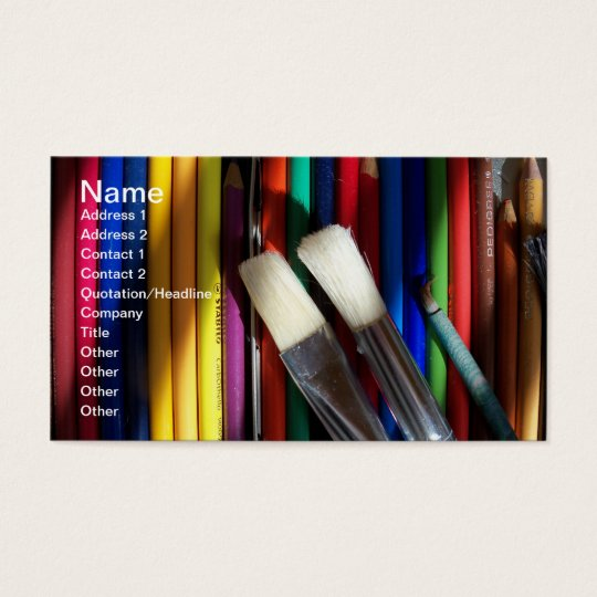 Fine Art Artist Business Card coloured pencil art