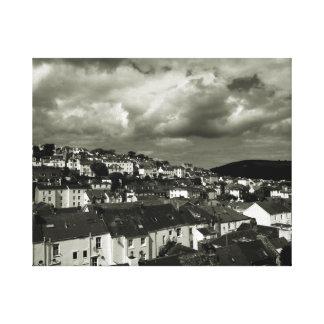 Fine Art Black & White photograph Devon Sky Gallery Wrapped Canvas