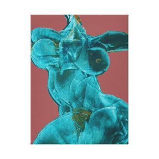 Fine Art Canvas Female in Motion Canvas Print