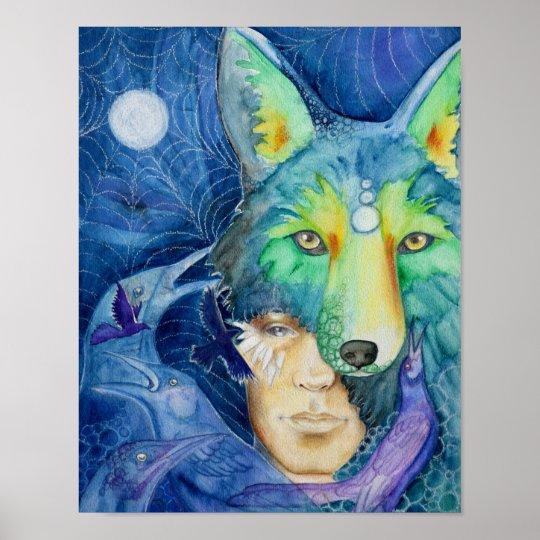 Fine Art Canvas Print 11x14: Coyote Son