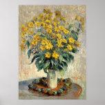 Fine art, Claude Monet Jerusalem Artichoke Flowers Poster