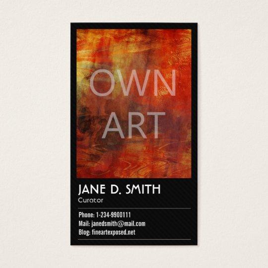 Fine Art Curator Business Card