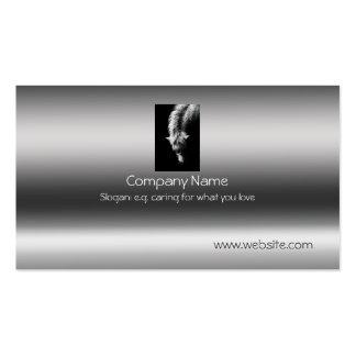 Fine Art Dartmoor Pony Portrait on metallic-effect Pack Of Standard Business Cards