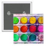 Fine Art Fun Colourful Paint Colour Box Button