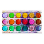Fine Art Fun Colourful Paint Colour Box Pack Of Standard Business Cards