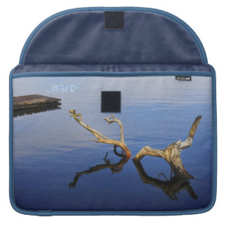 Fine Art: Lake's Edge Abstract Tranquility Sleeve For MacBook Pro