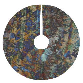 Fine Art Leaves Tree Skirt Brushed Polyester Tree Skirt
