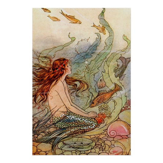 Mermaid Gifts Mermaid Decor Mermaid Art Print Mother S: Mermaid Art, Posters & Framed Artwork